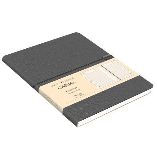 Ежедневник недатированный Casual А5, 136 листов, серый greenwich line ежедневник woodstock недатированный 136 листов цвет темно синий формат b6