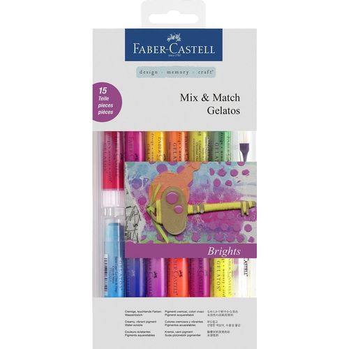 Гелевые карандаши Gelatos, 15 цветов + кисть