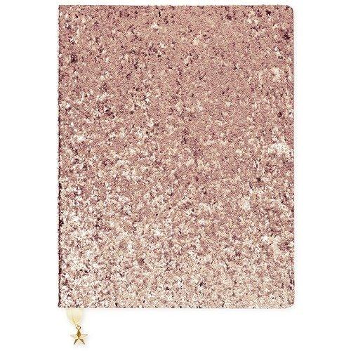 """Блокнот """"Блестки розовое золото"""" А4, 40 листов, в линейку"""