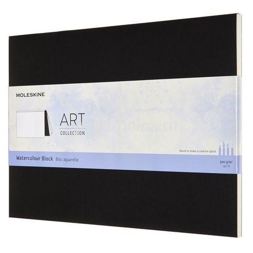 """Блокнот """"Art Watercolor"""", 36 листов, нелинованный, 23 х 31 см, черный Moleskine"""