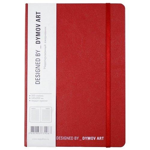 Ежедневник недатированный А5, 320 страниц, с резинкой, красный