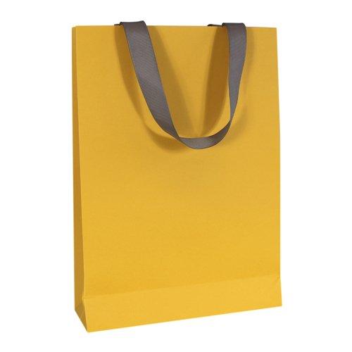 Пакет подарочный, 25 х 32 8 см, желтый