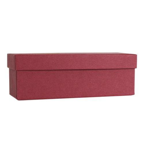 Коробка подарочная, 18 х 8 6,5 см, бордо