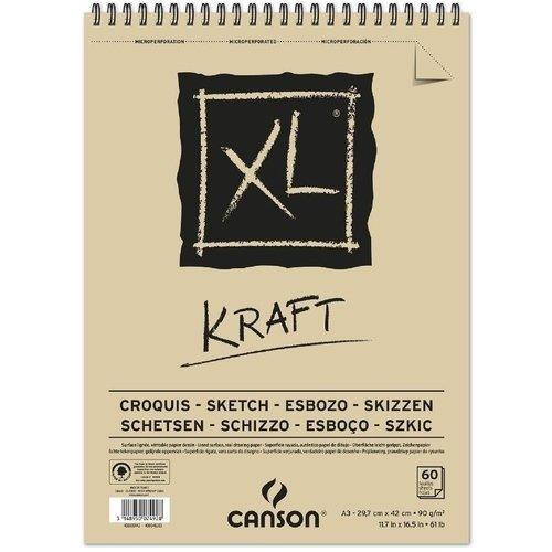"""Альбом на спирали """"XL Kraft"""" А4, 60 л, 90 г/м2, бежевый"""