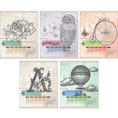 Тетрадь Почтовые открытки А5, 48 листов, в клетку, ассортименте