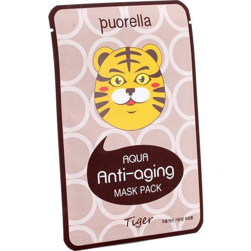 Антивозрастная маска для лица Aqua Тигр, 23 г shary маска ампульная для лица лифтинг эффект гиалуроновая кислота и морские водоросли 23 г