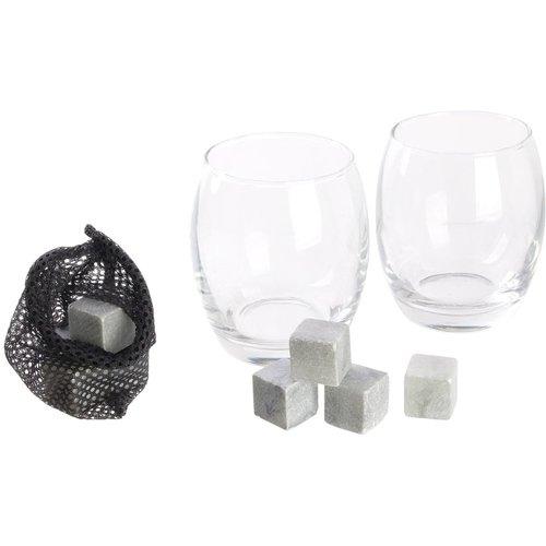 Набор для виски, 2 бокала, 8 камней для охлаждения набор бокалов для виски 2 шт sagaform набор бокалов для виски 2 шт