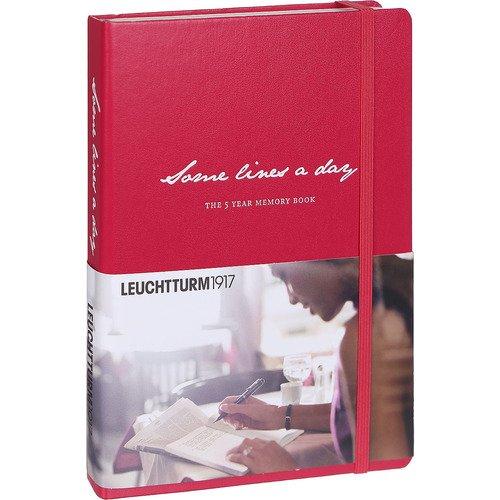 """Личный дневник на 5 лет """"Несколько строк в день"""" A5, 365 страниц, ягодный"""
