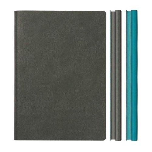 """Блокнот """"Signature Duo Lined"""" A5, 80 листов, двойной блок, серый"""