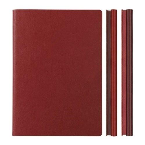 """Блокнот """"Signature Duo Lined"""" A5, 80 листов, двойной блок, красный"""