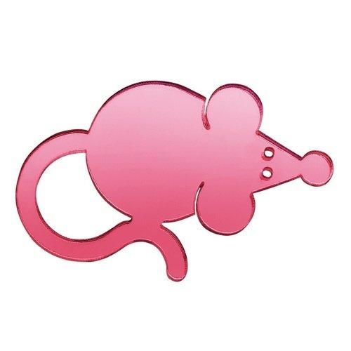 """Брошь """"Мини-крыса"""", розовая"""