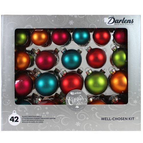 Фото - Набор из 42 стеклянных шаров, в ассортименте набор стеклянных шаров рождественские сны 60 мм 20 шт