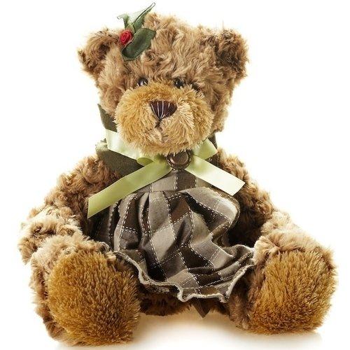 Мягкая игрушка Мишка Рита в Платье, 23 см цена