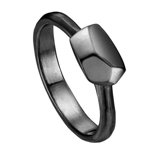 Кольцо R-ODA Bone M, 15, черное матовое belki rings черное кольцо numbers