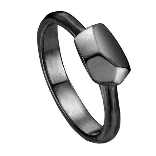 Кольцо R-ODA Bone M 18,5, черное матовое belki rings черное кольцо numbers