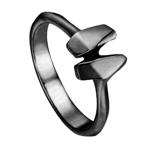 Кольцо R-ODA Bone 2S, 15, черное матовое belki rings черное кольцо numbers