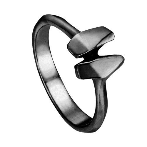 Кольцо R-ODA Bone 2S, 14, черное матовое belki rings черное кольцо numbers