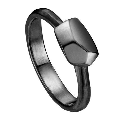 Кольцо R-ODA Bone M, 14,5, черное матовое belki rings черное кольцо numbers