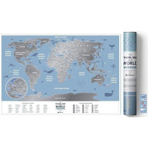 "Скретч-карта Travel Map ""Weekend World"", 40 х 60 см фото"