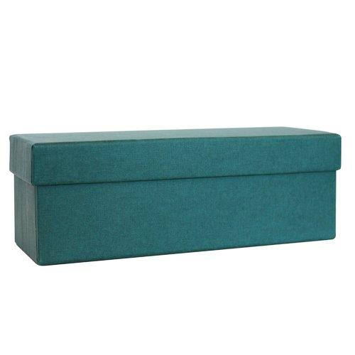 Коробка подарочная, 18 х 8 6,5 см, синяя