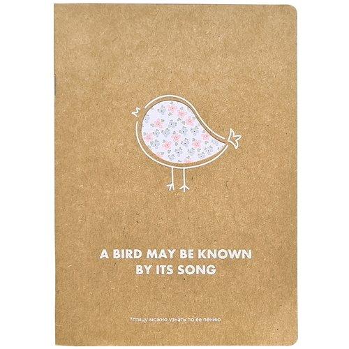 """Тетрадь """"Bird"""", 48 листов, в клетку, 15 х 21 см"""