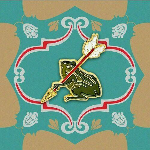 Значок металлический Царевна лягушка