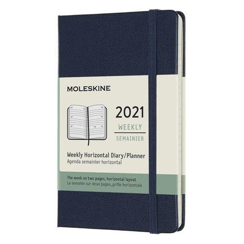 """Еженедельник датированный на 2021 г. """"Classic WKLY"""" Pocket 144 страницы, синий сапфир"""