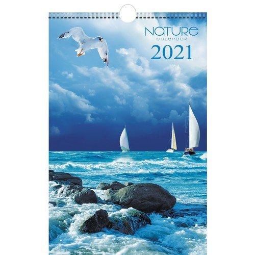 """Календарь на 2021 г. """"Природа. Дизайн 2"""", 20 х 43,5 см"""