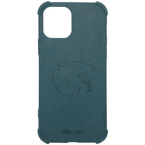 Чехол SOLOMA Case для iPhone 12 Mini с ударопрочными углами, биоразлагаемый, светло-синий