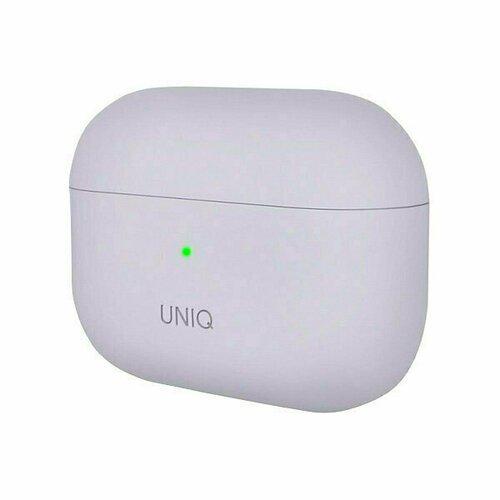 Чехол для Airpods Pro Uniq Lino Liquid silicone лавандовый