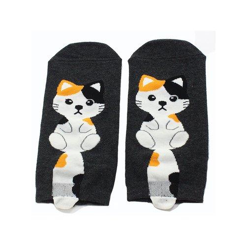 Короткие носки Krumpy «Котята с хвостом» 35-40, чёрные