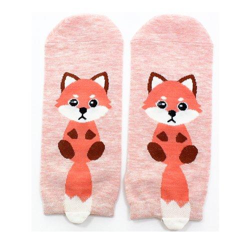 Короткие носки Krumpy «Котята с хвостом» 35-40, розовые
