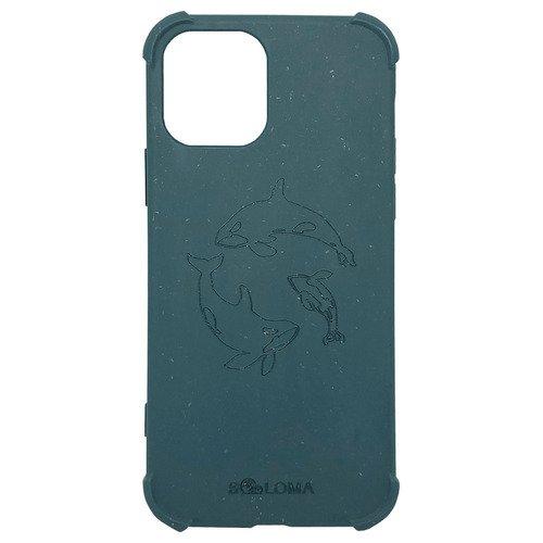 Чехол SOLOMA Case для iPhone 12 Pro Max с ударопрочными углами, биоразлагаемый, светло-синий