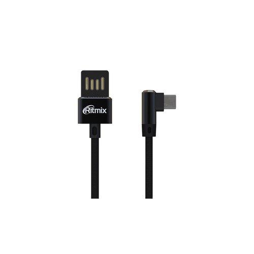 Кабель Ritmix RCC-418 Black (USB - Micro-USB)