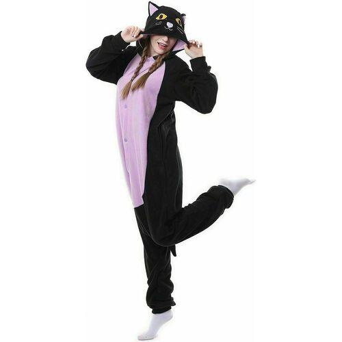 Кигуруми Funfur Fleece «Кот» S, фиолетовый