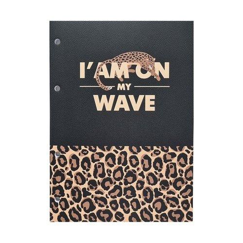 Блокнот Be Smart Leo 80 листов, в клетку, 14 х 19,8 см, черный