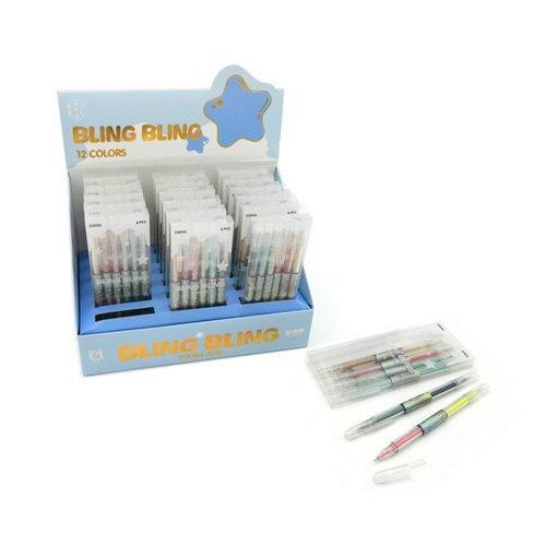 Ручки гелевые Yimei CH-201 Двухцветные 0.5 мм, 12 цветов, 6 шт.