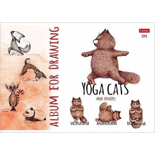 Альбом для рисования Hatber Animals Yoga А4, 24 листа