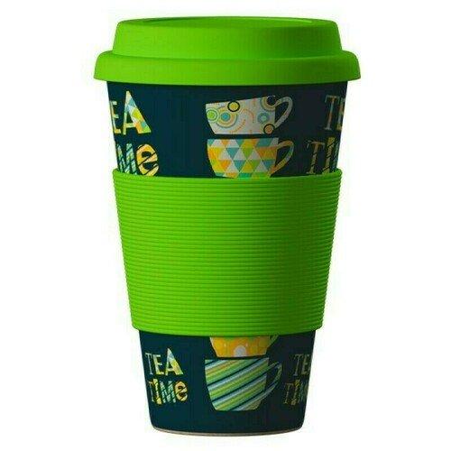 """ЭКО Стакан из бамбукового волокна BambooCup """"Зеленый Чай"""", 400 мл"""