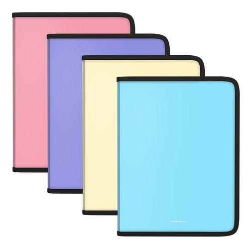 Папка для тетрадей на молнии пластиковая ErichKrause Matt Pastel, A4, в ассортименте