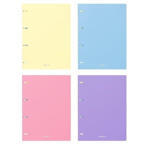 Тетрадь общая с пластиковой обложкой на кольцах ErichKrause Pastel, А4, 80 листов в клетку, в ассортименте