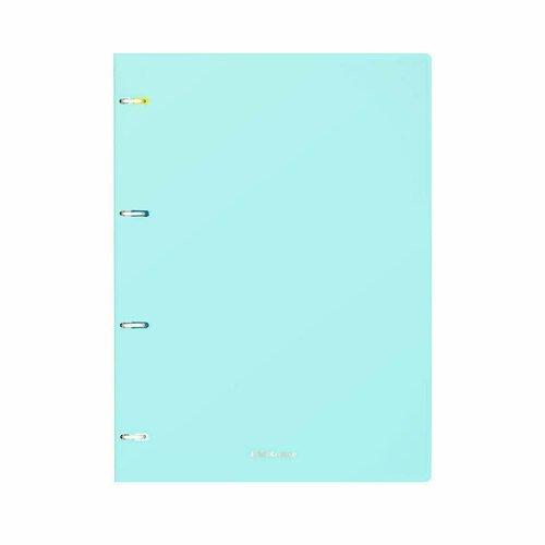 Тетрадь общая с пластиковой обложкой на кольцах ErichKrause Pastel Mint, А4, 80 листов в клетку