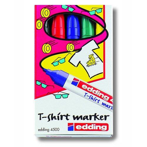 Набор маркеров для текстиля 5 цветов маркер для текстиля edding ярко красный наконечник круглой формы толщина линии 3мм e 4500