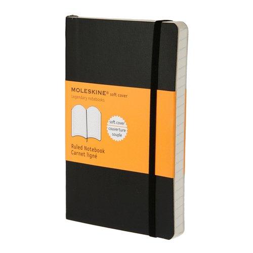 """Блокнот """"Classic Soft Ruled"""" Pocket, 96 листов, в линейку, черный"""