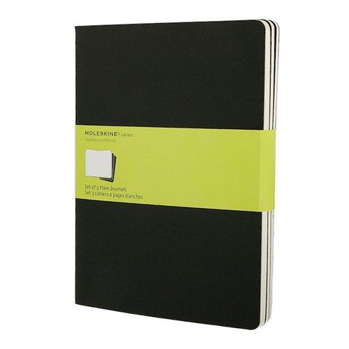 """Блокнот нелинованный """"Set of 3 Plain Cahier Journals"""" Extra Large, 96 листов, 3 шт."""