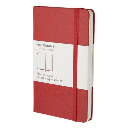 """Блокнот нелинованный """"Classic Plain"""" Pocket, 96 листов, красный"""