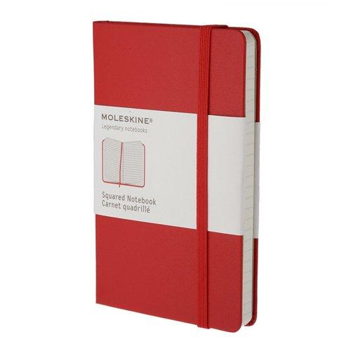 Блокнот в клетку Classic красный Pocket Squared записная книжка в клетку classic фиолетовая pocket