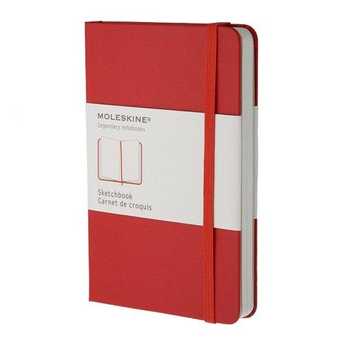 """Блокнот нелинованный """"Classic Sketchbook"""" Pocket, 50 листов, красный"""
