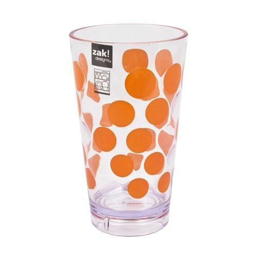 Стакан Dot Dot, оранжевый zak designs мини тортница leaf white