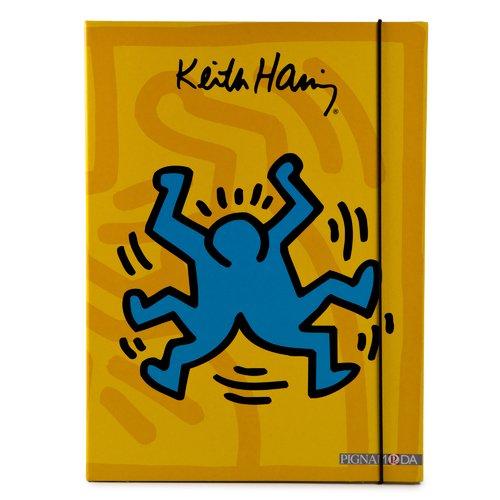 Папка на резинке Keith Haring А4 папка короб бюрократ ba25 05grn цвет зеленый на резинке 816202